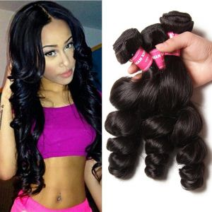 Donmily Malaysian Loose Wave 3 Bundles Human Virgin Hair