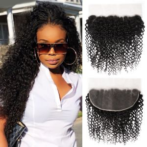 Donmily 13x6 Jerry Curly Ear To Ear Lace Frontal Closure