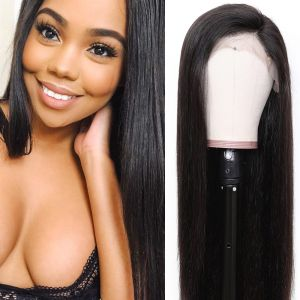 Donmily Brazilian Straight Hair 13x6 Lace Front Wig 180% Density