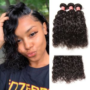 Donmily Indian Water Wave 3 Bundles Human Hair