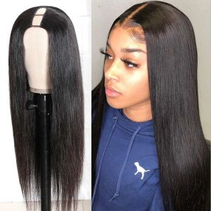 Donmily Comfortable 2*4 U Part Straight Hair Wig 150% Density Easy to Install & Take off