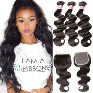 3 BUNDLES BODY WAVE WITH 5*5 LACE CLOSURE