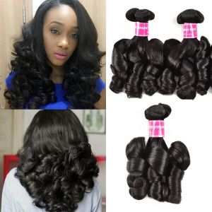 Donmily 3 Bundles Double Drawn Funmi Curly Virgin Human Hair
