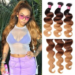 Donmily Ombre Peruvian Body Wave 3 Bundles (#1B/4/27)