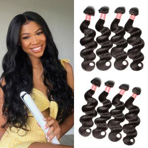 Donmily 4 Bundles Malaysian Body Wave Human Hair