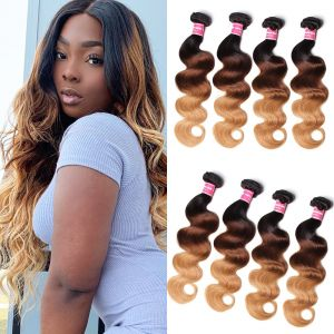Donmily Peruvian Body Wave Hair Weave Tone Ombre Hair 4 Bundles