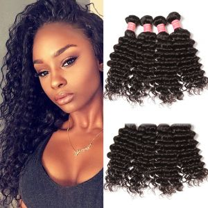 Donmily 4 Bundles Brazilian Deep Wave Hair