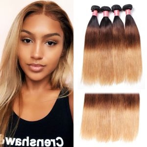 Donmily Brazilian Ombre Straight Hair 4 Bundles