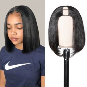 Donmily U Part BoB Straight Hair Wigs 150% Density Affordable Human Virgin Hair Quick And Easy Install