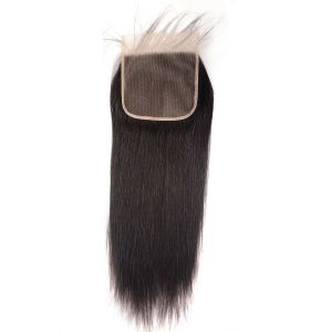 Donmily 1 Piece 6x6 Inch Lace Closure Silky Straight Virgin Hair