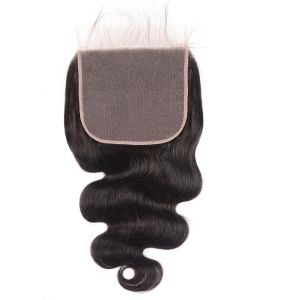 Donmily 1 Piece 7x7 Inch Free Part Lace Closure Body Wave Hair