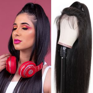 Donmily Malaysian Pre-plucked Straight Hair 360 Lace Frontal Wig