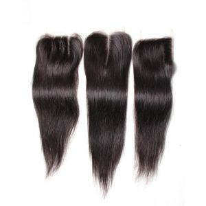 Donmily Straight Human Hair 4x4 Lace Closure