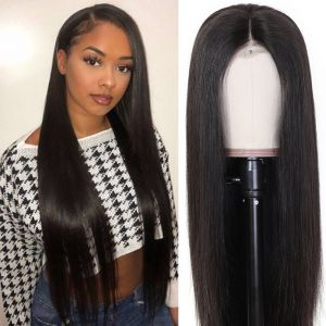 Donmily Straight Hair Lace Front Wig 4x4 Lace Closure Wig 150% Density 100% Human Hair