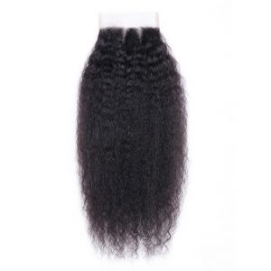 Donmily Kinky Straight Hair 4x4 Lace Closure