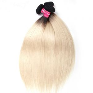 Donmily 3 Bundles Straight T1B/613 Ombre Blonde Hair