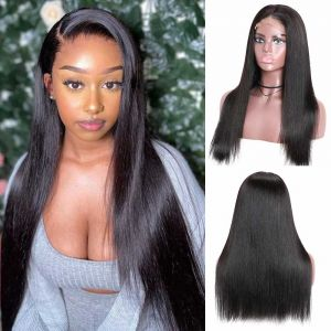 Donmily Straight Hair Pre Plucked Natural Hairline 150% Density 4x4 Lace Wigs 12-22 inch