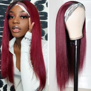 Donmily 99J Headband Straight Hair Wigs
