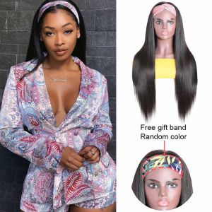 Headband Wig Straight Hair 150% Density