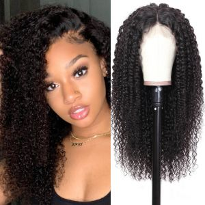 Donmily Jerry Curly 13x6 Transparent Lace Front Wig 180% Density