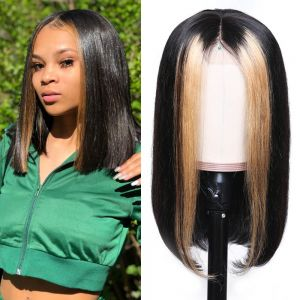 Straight Hair 13x4 Lace Front Wig 180% Density TL1B27 color