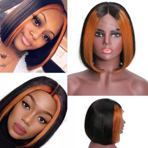 Donmily 13x4 Bob Straight TL30 Color Wig 150% Density