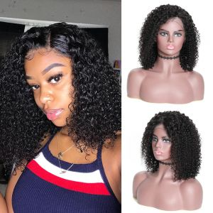 Donmily 13x4 Jerry Curly Bob Lace Front Wig 180% Density