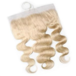 Donmily Blond 613 Body Wave Hair with 13x4 Lace Closure Free Part