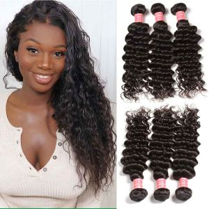 Brazilian Deep Wave 3 Bundles Human Hair