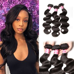Donmily 3 Bundles Malaysian Body Wave Human Hair