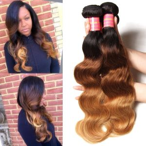 Donmily Ombre Brazilian Body Wave 4 Bundles Human Hair