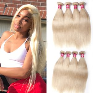 Donmily 4 Bundles of Straight 613 Human Hair