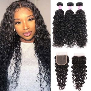 water wave 3 bundles with closure