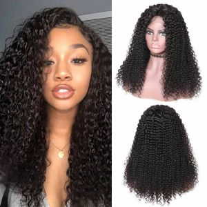 Donmily Malaysian Jerry Curly 13x4 Lace Front Wig 180% Density