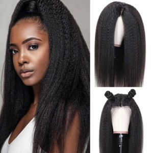 Kinky Straight 13x6 Pre-plucked Lace Front Wig 150% Density