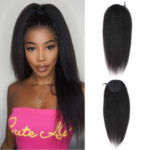 Donmily Most Natural Looking Machine Made Kinky Straight Wig