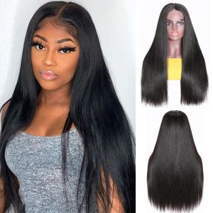 Donmily Straight Hair Wig Lace Part Wig 150% Density Natural Color 14-24 Inch