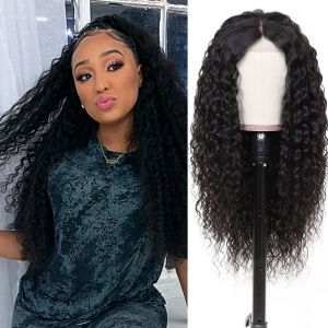 13x6 Water Wave Lace Front Wigs 150% Density With Human Hair