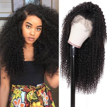 Donmily Malaysian jerry curly hair 180% Density 13*6 lace front wig The most natural Looking virgin human hair