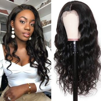Donmily Body Wave 13x6 Transparent Lace Front Wig 150% Density