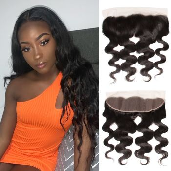 Donmily 1 Piece 13x6 Inch Transparent Lace Body Wave Virgin Hair