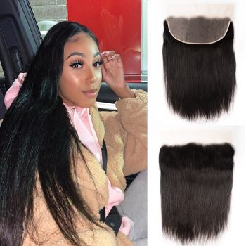 Donmily 1 Piece 13x6 Inch Transparent Lace Straight Virgin Hair