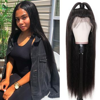 Donmily Straight 13x6 Lace Fake Scalp Wig 150 Density