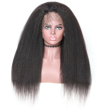 360 Lace Wig Kinky Straight Virgin 150% Density Human Hair