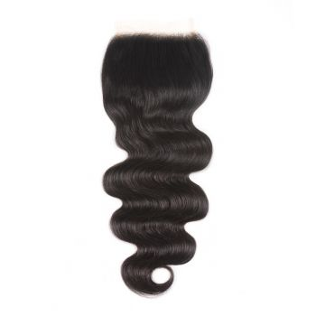 New Lace Closure 5x5 Inch Transparent Lace Body Wave Hair 1 Piece