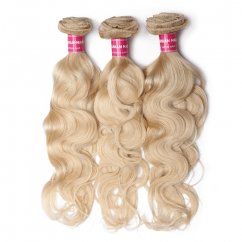 DONMILY Blonde Hair Color 613 Body Wave Bundles 100% Remy Human Hair Weaving 3pcs/lot Free Shippping