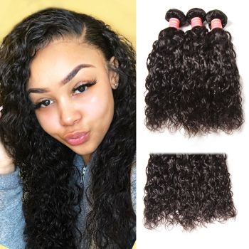 Donmily Malaysian Water Wave Human Hair 3 Bundles Natural Color