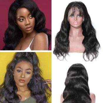 Body Wave 360 Lace Frontal Wig 180% Density Baby Hair