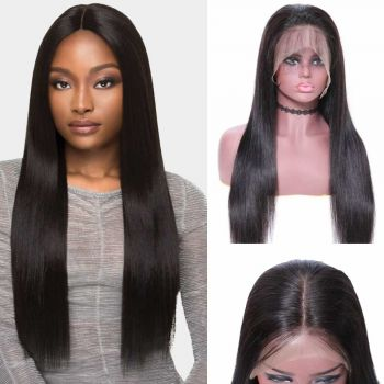 Donmily 360 Straight Lace Wig Human Hair 180% Density
