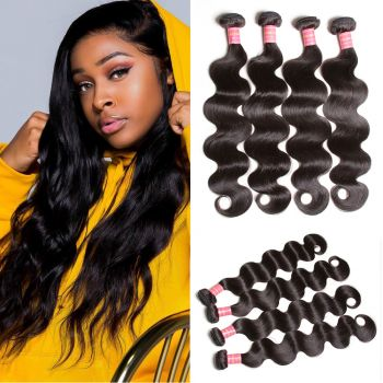 Donmily Indian Body Wave 3 Bundles Deals, Virgin Human Hair Bundles. Unprocessed Hair.